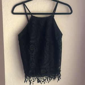 Black Lace Xhilaration Tank Top